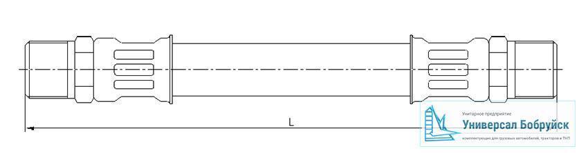 схема пневмошланга МАЗ 500А-3506228