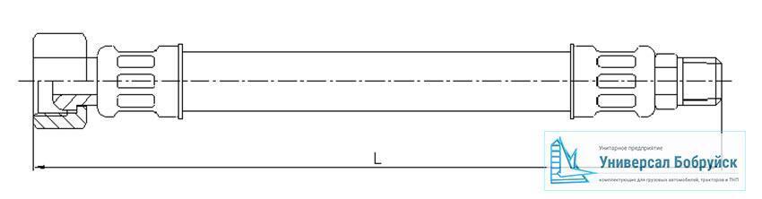 схема пневмошланга МАЗ 6422-3506094