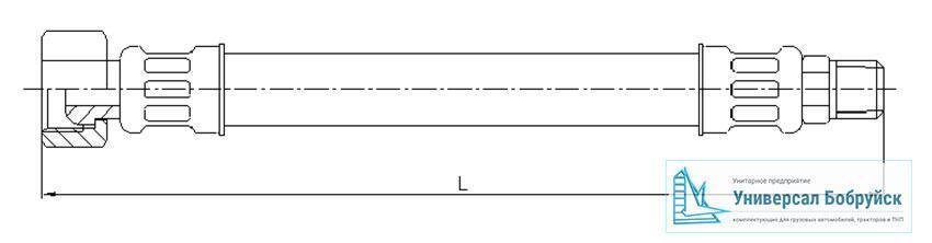 схема пневмошланга ЗИЛ 020-3506085