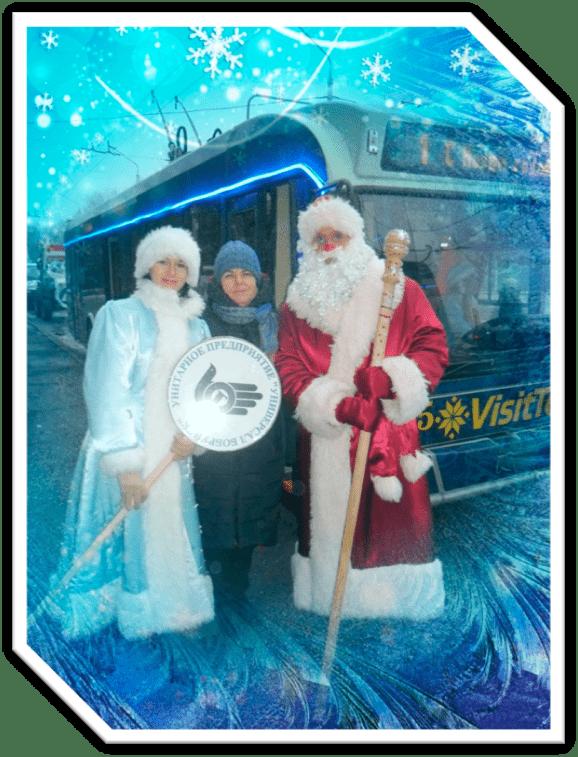 городское шествие Дедов Морозов, Снегурочек в Бобруйске